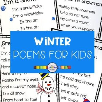 5 Winter Poems for Kids - Snowman