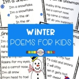 5 Winter Poems for Kids - Snowman