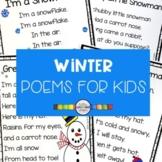 5 Winter Poems for Kids - Snowman Bundle