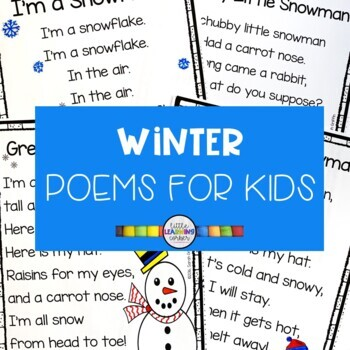 graphic regarding Chubby Little Snowman Poem Printable called 5 Wintertime Poems for Youngsters - Snowman Package