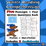 5 Winter Reading Comprehension Passages: Winter Paired Tex