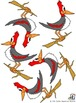5 Woodpeckers