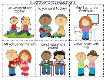 5 Word Sentences Practice