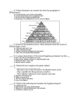 UNIT 1 LESSON 6. World History Unit 1 TEST and KEY