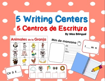 5 Writing Centers in English & Spanish