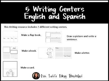 5 Writing Centers in English and Spanish