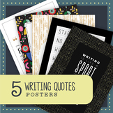 5 Writing Quotes: Classroom Posters