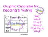 5 Ws Graph Organizer for Writing and Reading