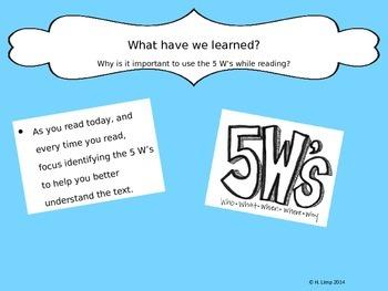 5 W's PowerPoint