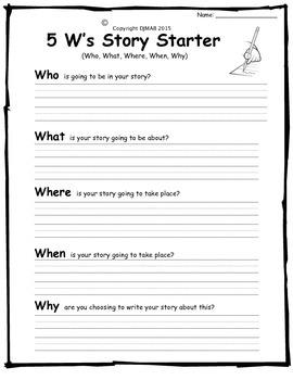 5 W's Story Starter