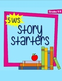 5 W's Story Starter Cards