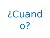 5 Ws and H Posters - Question Words in Spanish