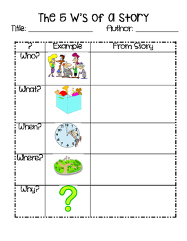 5 W's Graphic Organizer & Worksheets | Teachers Pay Teachers