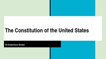 5 Ws of U.S. Constitution