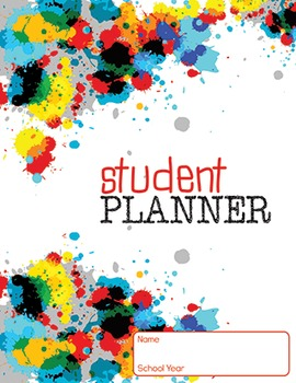5 YEAR STUDENT PLANNER- paint design