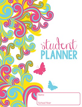 5 YEAR STUDENT PLANNER- retro butterfly design