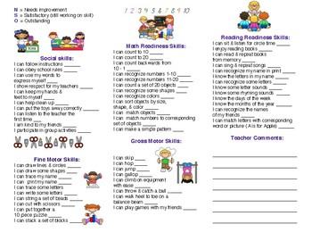 5 Year Old Progress Report