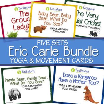 5 Yoga & Movement Pose Card Sets -- BUNDLE -- books by Eric Carle