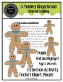 5 Yummy Gingerbread (poem, pocket chart, extension activit