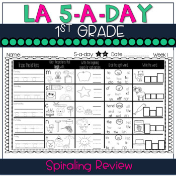 5-a-Day LA: 1st Grade Weekly Spiraling Review (Full Year)