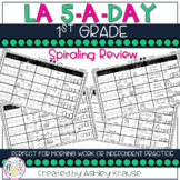 5-a-Day LA: 1st Grade Weekly Spiraling Review - Great Morning Work