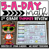 5-a-Day Math: 1st Grade SUMMER Math Review Packet | Distance Learning
