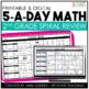 5-a-Day Math: Math Spiral Review / 1st and 2nd Grade Bundle