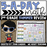 5-a-Day Math: 2nd Grade SUMMER Math Review Packet | Distance Learning