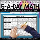 5-a-Day Math: 3rd Grade Math Spiral Review / 3rd Grade Morning Work
