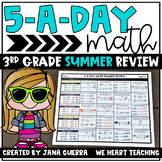 5-a-Day Math: 3rd Grade SUMMER Math Review Packet | Distance Learning