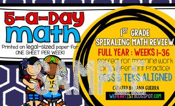 5-a-Day Math: First Grade (SAMPLE)