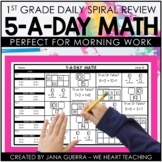 5-a-Day Math:1st Grade Math Spiral Review | Distance Learning