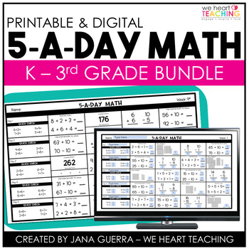 5-a-Day Math: K-3 Bundle