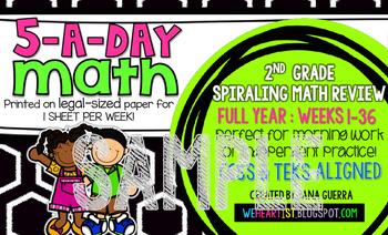 5-a-Day Math: Second Grade (SAMPLE)