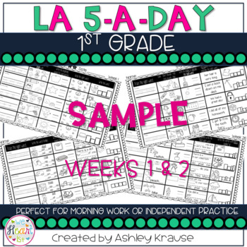 5-a-day LA: 1st Grade Weekly Spiraling Review (2 weeks)