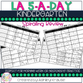 5-a-Day:KINDERGARTEN Weekly Spiraling Review Great morning work
