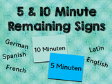 5 and 10 Minute Remaining Signs