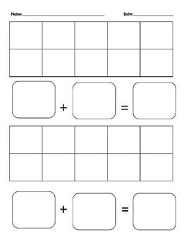 5 and 10 frame with addition blanks