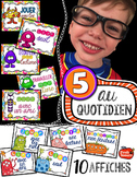5 au Quotidien : Affiches / Gratuit / french daily 5 posters