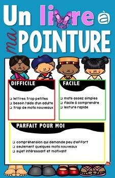 Un livre à ma pointure / Activités en français gratuit / french immersion /core