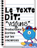 French Writing tools / Writing Prompts / French writing unit / Summer
