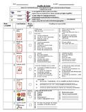 5 au quotidien feuille de suivi - Tracking sheet for your literacy centres