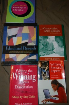 5 books for writing a master's thesis, action research, or lit review