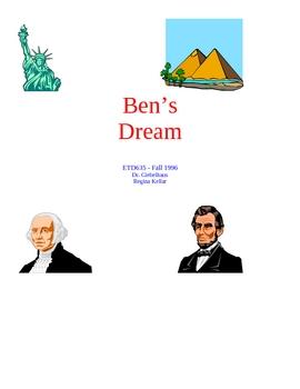 5 day monument lesson based on Ben's Dream by Chris VanAllsburg