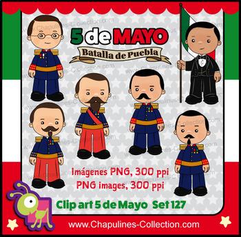 5 de Mayo Clipart, Mexican history, Batalla de Puebla, Battle of Puebla Set 127