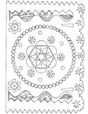 5 de Mayo Papel Picado Coloring Sheets