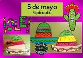 5 de mayo Mexico booklets bilingual Español Craftivity Spa