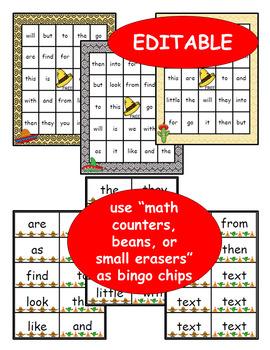 5 de mayo: Sight Word Bingo - Editable