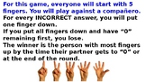 5 dedos (five fingers) Game for informal (tu) commands WITH ANSWERS!