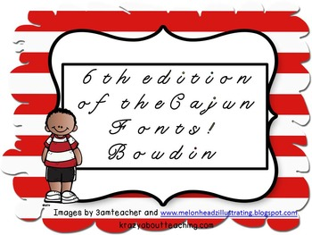5th edition of Cajun fonts:  Boudin